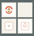 christmas greeting card design and pattern vector image vector image