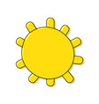 color sun light weather with ray design vector image