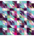 colorful blue pink triangular low poly mosaic vector image