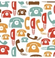 colorful pattern with phones with cord vector image vector image