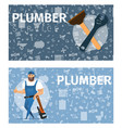 concept plumber service vector image vector image