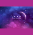 cosmos background with realistic stardust nebula vector image vector image