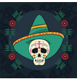 day of the dead card vector image vector image