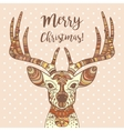 Deer head with ornament Merry Christmas vector image