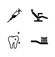 dentist simple related icons vector image vector image