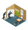 drug addict isometric composition vector image vector image