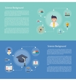 Education infographics concept icon vector image vector image