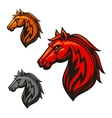 Fire horse stallion heraldic emblems vector image