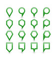 flat green color map pin sign location icon vector image vector image