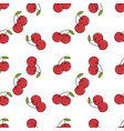 fresh cherry hand drawn background doodle vector image