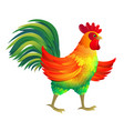 funny rooster vector image vector image