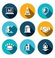 Gas trade icon set vector image vector image