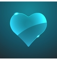 glass game heart icon vector image vector image