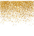 golden glitter texture on a white background vector image vector image