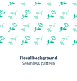 Green flowers fancy backdrop pattern vector image