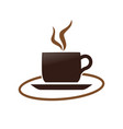 hot coffee cup simple symbol design vector image