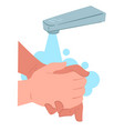 how to wash hands rotationally hygiene and body vector image