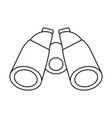 isolated binoculars icon image vector image