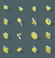 isometric flat design icon set vector image vector image