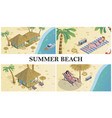 Isometric summer time composition