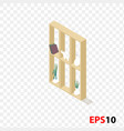 isometric wood cupboard vector image
