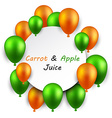 Juice frame background with balloons vector image vector image