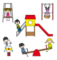 Kids playing at the park vector | Price: 1 Credit (USD $1)