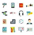 Learning foreign languages icons set flat style vector image vector image