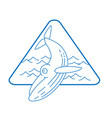 line style whale icon vector image vector image