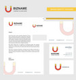 magnet business letterhead envelope and visiting vector image vector image