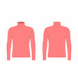 mens red long sleeve t shirt vector image