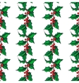 mistletoe christmas seamless pattern hand vector image vector image