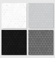 monochrome triangle patterns set vector image vector image