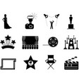 Movie and oscar symbol icons vector | Price: 1 Credit (USD $1)