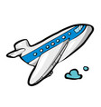 plane on white background cute cartoon transport vector image