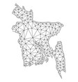 polygonal network mesh map of bangladesh vector image
