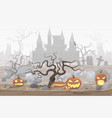 pumpkin lanterns vector image