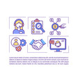 remote virtual assistant concept icon with text vector image vector image