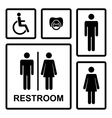 restroom icons with menwomen lady man vector image vector image