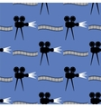 Seamless Cinema Pattern Film Strip Background vector image