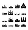 set castles silhouette vector image vector image