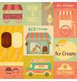 set ice cream design elements vector image vector image
