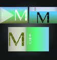 set of business cards with logo letter m vector image