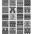 set seamless ethnic tribal pattern vector image vector image