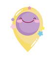 social networks cartoon gps pin location icon vector image vector image