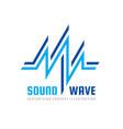 sound wave - logo template concept vector image