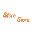 store logo lettering vector image