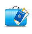 suitcase for travel vector image vector image