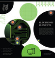technological electronic colorful concept vector image