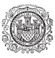the seal for the city of chichester england vector image vector image